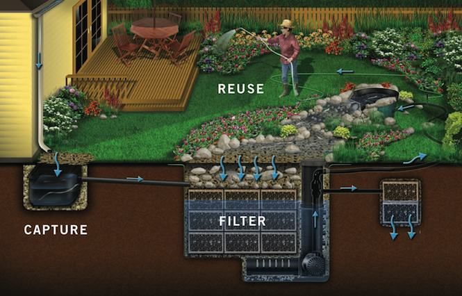 Water collection and filtration system, for indoor use as well as outdoor.
