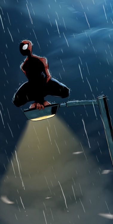Spiderman at night by ~cury on deviantART