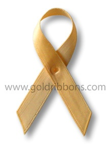 The gold ribbon is the official ribbon of children with cancer worldwide, supported, recognized and promoted by hundreds of organizations and treatment centers, families, friends, and caregivers, including: