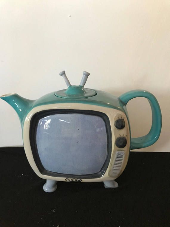 Hey, I found this really awesome Etsy listing at https://www.etsy.com/listing/559959532/blue-sky-clayworks-television-teapot