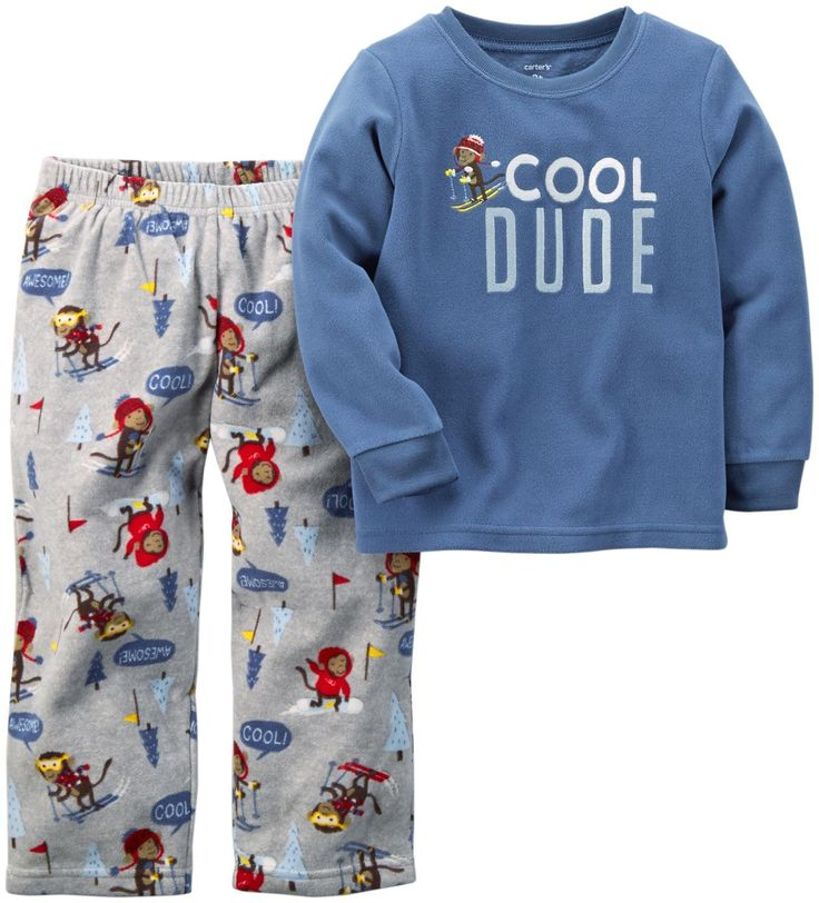 Carter's Little Boys' 2 Piece Pj Set (Toddler/Kid) - Skiing Monkey - 5. Carter's 2 Piece PJ Set (Toddler/Kid) - Skiing Monkey Carter's is the leading brand of children's clothing, gifts and accessories in America, selling more than 10 products for every child born in the U.S. Their designs are based on a heritage of quality and innovation that has earned them the trust of generations of families.