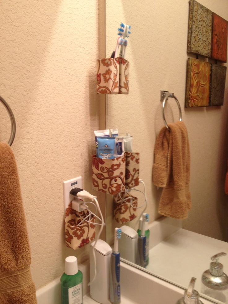 Superb Command Strip + Decoupage For When You Have Limited Bathroom Space