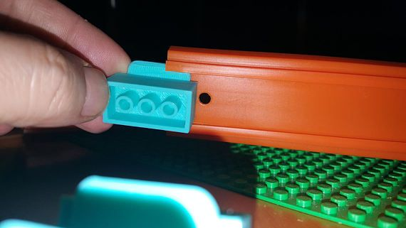 Hot Wheels Track to LEGO Track Adapters. 8 Piece PLA Plastic