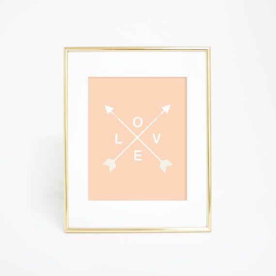 Peach Arrow Print, Digital Prints, Love Arrows, Tribal Arrow Prints, Peach Print, Love Print, Arrow Prints, Tribal Arrows, Love Art