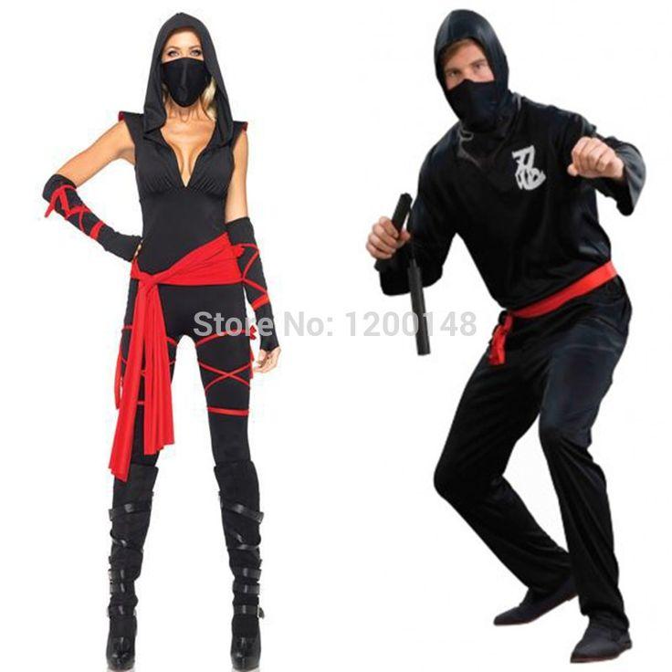 Couple Shirt Halloween Black Ninja Cosplay clothing