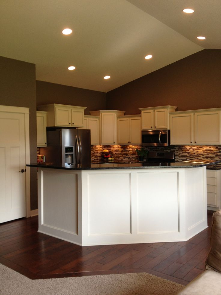 Ivory cabinets with gray glaze  Home Sweet Home  Kitchen  Pinterest
