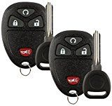 Discount Keyless Pair of Replacement 4 Button Automotive Keyless Entry Remote Control Transmitters 15913421 and Replacement ID 46 Transponder Keys
