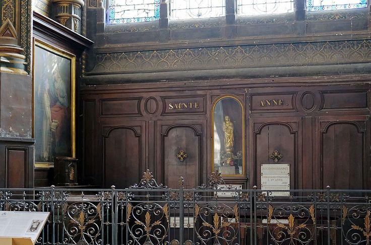 F0515 Paris Ier eglise Saint-Eustache chapelle Ste-Anne rwk - Église Saint-Eustache de Paris — Wikipédia