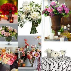 10 Peony Wedding Bouquets & Centerpieces: Peony floral arrangements for your wedding ceremony, cocktail hour, and wedding reception.
