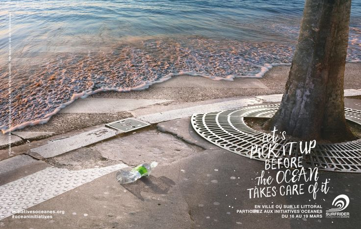 """Waves (bottle)"" by Y&R Paris for Surfrider Foundation Europe"