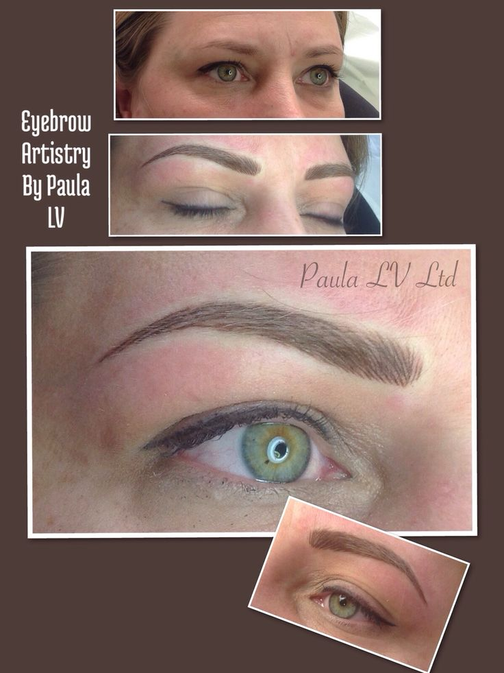 Hair stroke semi permanent eyebrows provide a more natural look.