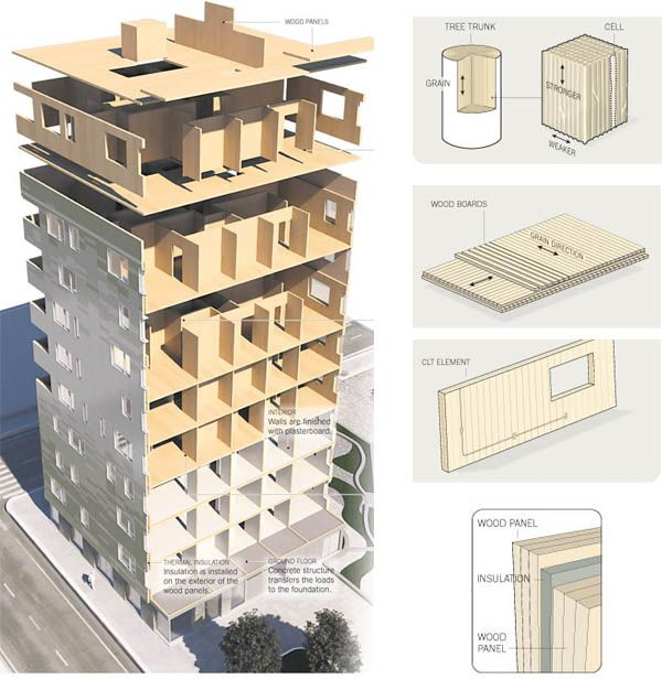 Timber Top Apartments: CLT: Cross Laminated Timber And Ripple Design