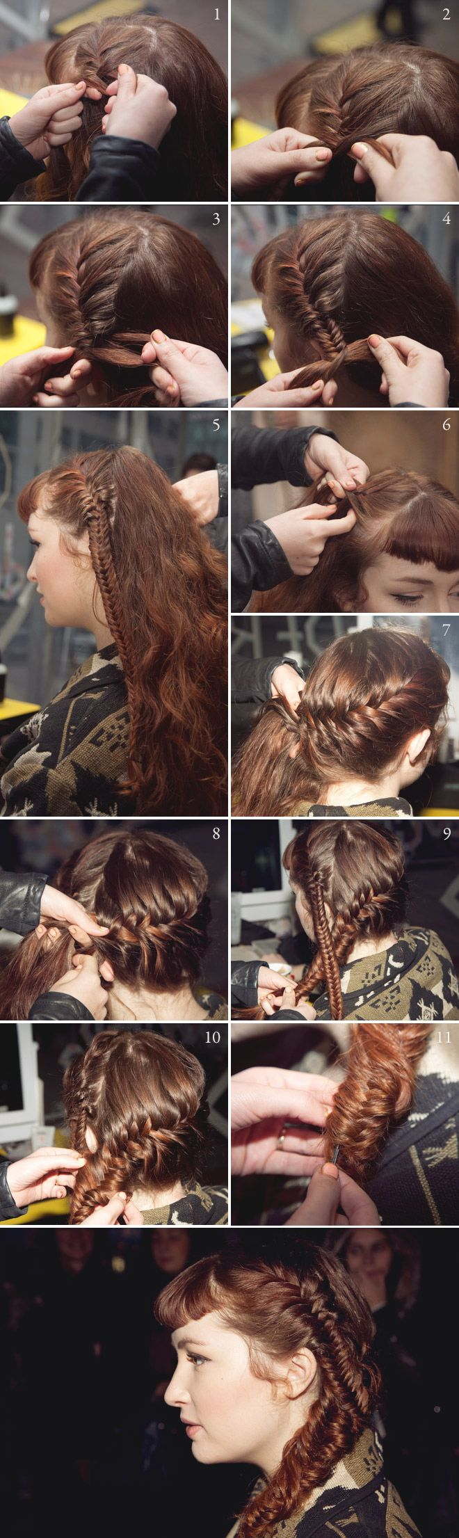 She Lets Her Hair Down: Tutorial :: Two Fishtails Make One