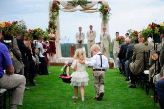 southern wedding flower girl Vibrant South Carolina Wedding by Sara Parker
