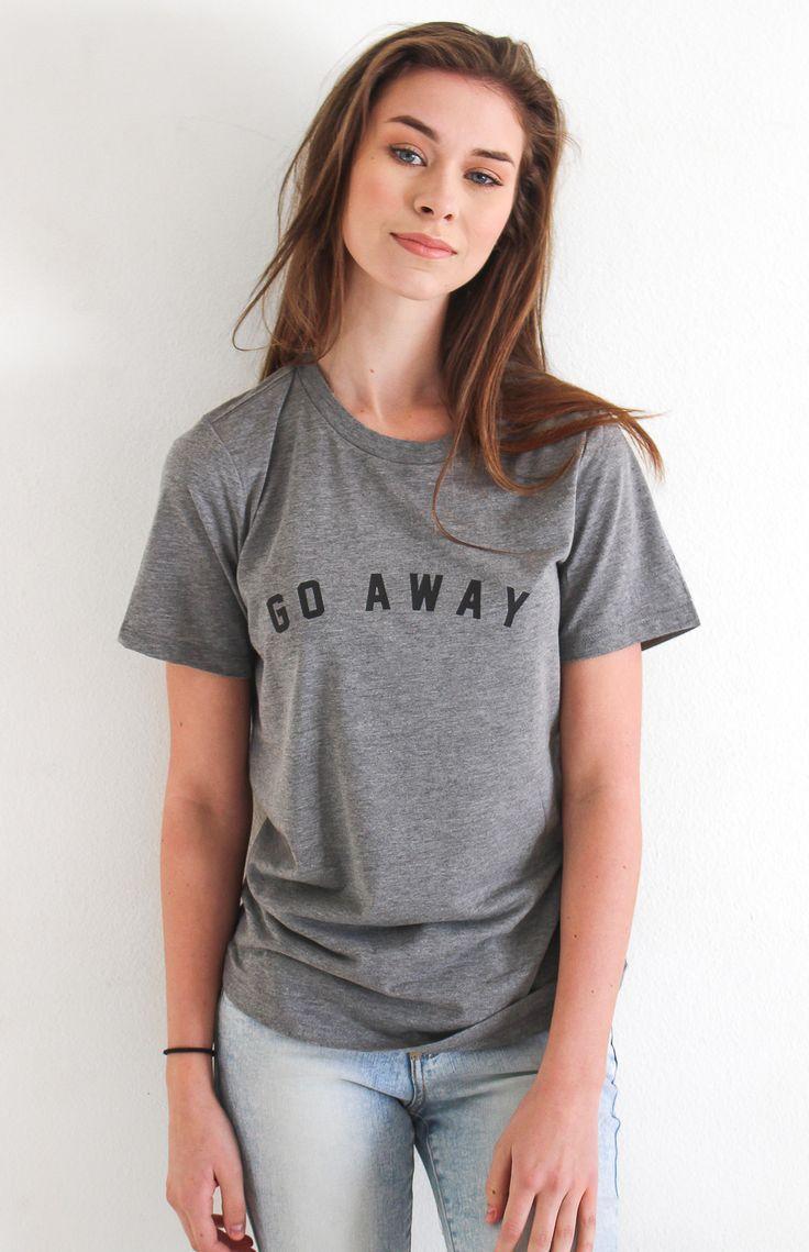 Go Away Relaxed Tee - Grey