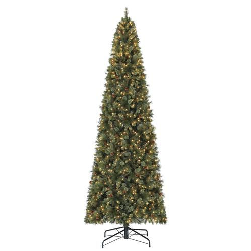 Enchanted Forest 12 Prelit Warsaw Cashmere Quick Set Pine Artificial Christ Slim Artificial Christmas Trees Led Color Changing Lights Pre Lit Christmas Tree