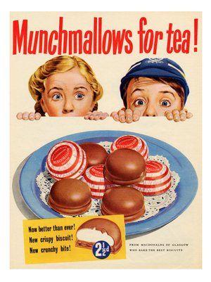 Munchmallows, Vintage Advert, 1950s