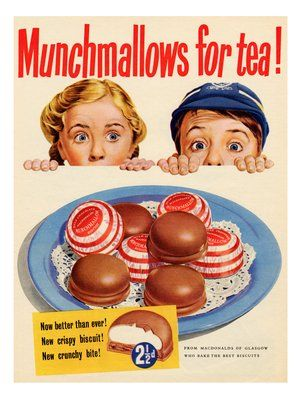 Munchmallows, Vintage Advert, 1950s