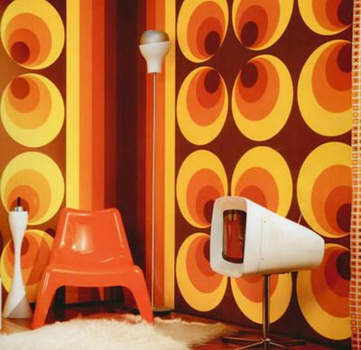 psychedelic home mod 60s 70s decore - 60s Home Decor