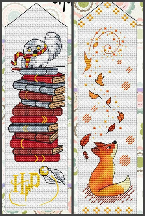 16 Bookmark Cross Stitch Pattern PDF Instant Download Book Cross Stitch Nursery Cross Stitch Cute Cross Stitch Easy Cross Stitch