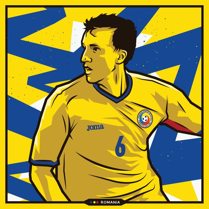 Vlad Chiriches - Romania - Euro 2016 by Kieran Carroll Design