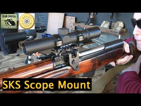 Sks scout scope mount by Brass Stacker, haven't tried this one yet but intend to soon!
