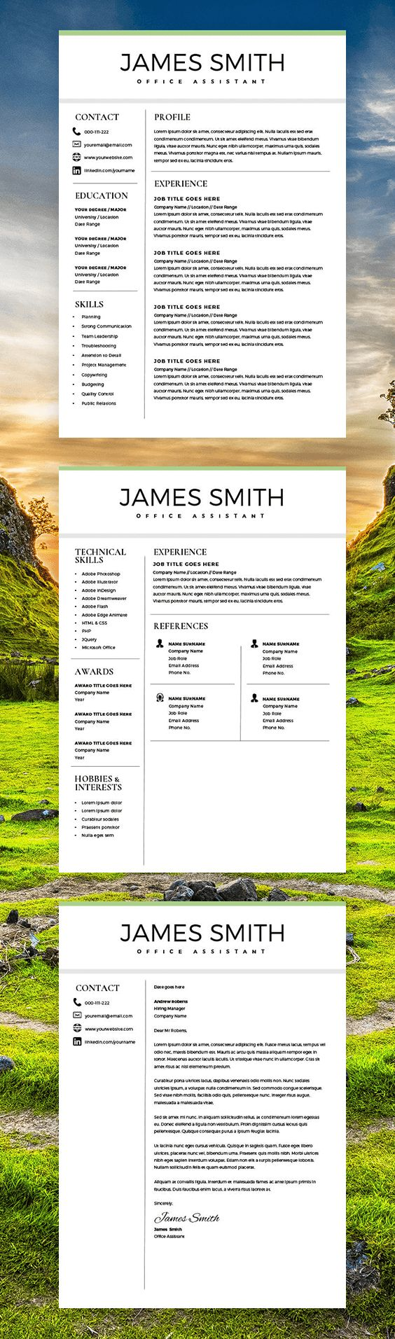 classic resume professional resume template for word pages 2 pages resume cover - How Do You Write A Cover Letter For A Resume
