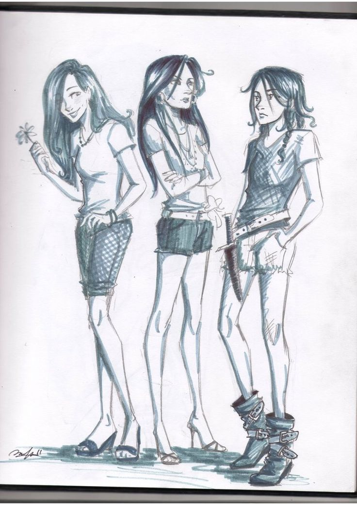 Aphrodite cabin counsilers by ~Win-E on deviantART - ~ GAME TIME! Who can name these three ladies?