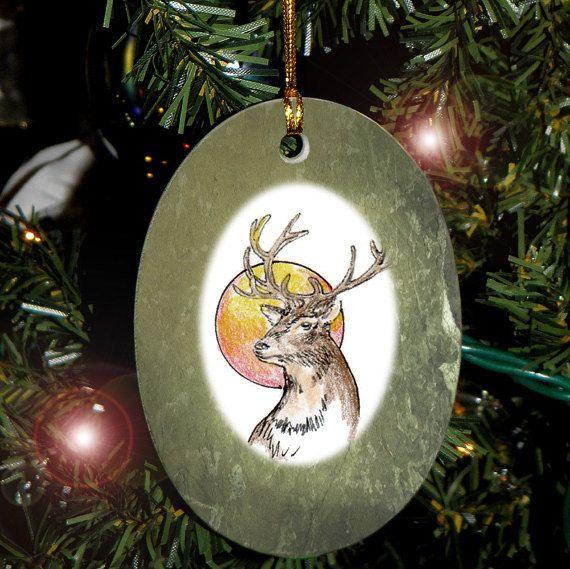 Cerf Yule animaux Totem, vacances, Noël ornement