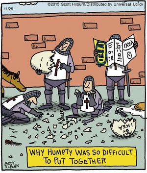 The Argyle Sweater by Scott Hilburn 11-25-2015 // Literary Reference -- Nursery Rhymes -- Humpty Dumpty // directions for assembly by IKEA