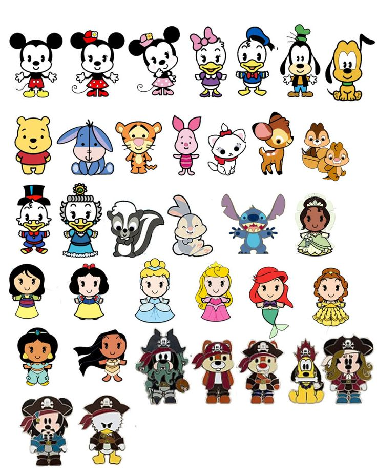 Disney cuties- they are just too cute. Make your own magnet idea!!