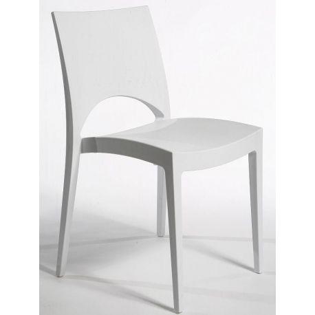 Białe krzesło do jadalni Pure