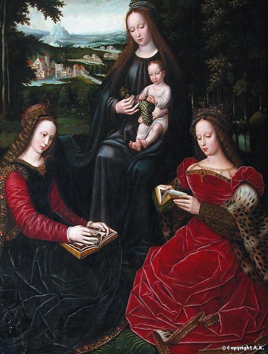 Artiste : Ambrosius Benson  * Modèle : Jésus-Christ, Sainte Barbe, Sainte Catherine d'Alexandrie, Sainte Vierge  * Date : approx. entre 1530 et 1532 Flandres  * Musée du Louvre
