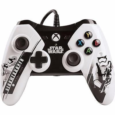 Product Info The officially licensed Star Wars: The Force Awakens wired controllers for Xbox 360 feature all new imagery from Episode 7 the latest in the Star Wars saga. Choose First Order with Stormt