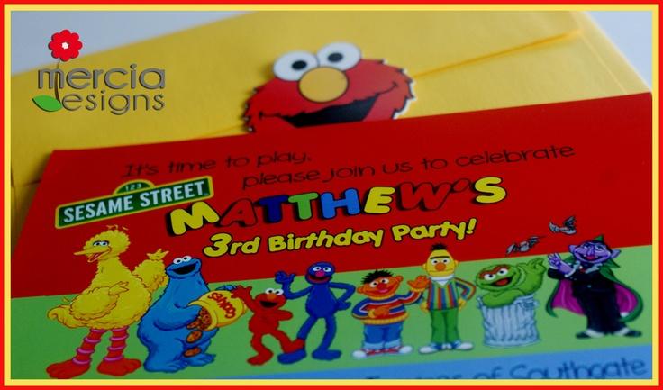 Sesame Street Invitation: Sesame Street