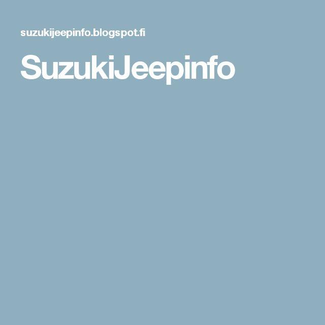 SuzukiJeepinfo