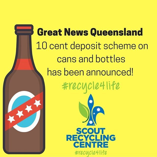 ♻️ Congratulations #Queensland. Recycle your cans and bottles to help yourself, help the planet and help Scouts ♻️ #recycle4life #recycle #brisbane #scouts #scoutslife #environment #australia