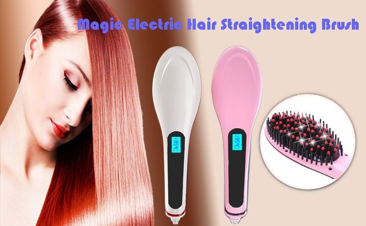 Electric Hair straightner brush - AED179.00 : Online Best Dubai Shopping, Discounts, Deals & Offers in UAE at HST
