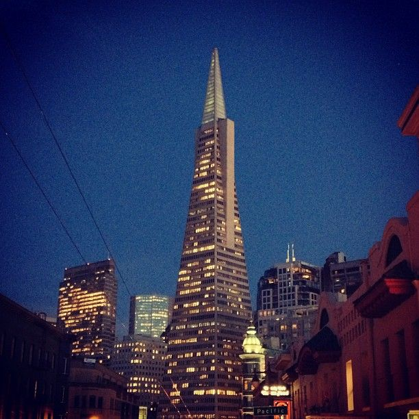 Transamerica Pyramid in San Francisco, CA