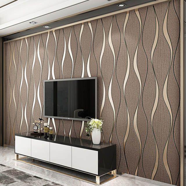 Online Shop 3d Striped Wallpaper For Walls Roll Living Room Tv