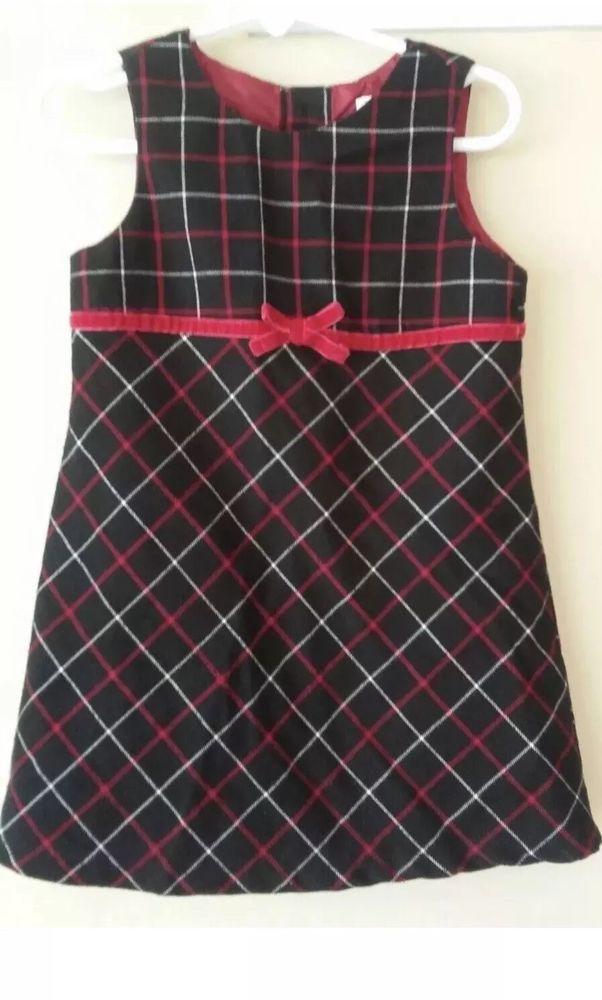 753a66eba99b Details about Gymboree Red Black   White Plaid Toddler Girl Dress ...