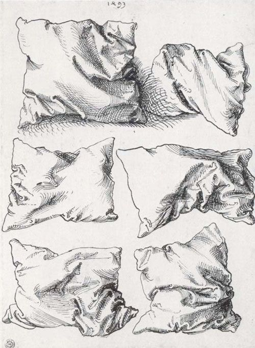 drawing folds in Pillows