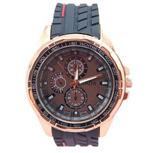 hot tada brand classic black silicone strap quartz movement analog display fashion 3 colors mens sports wristwatches(China (Mainland))