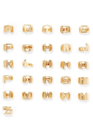 Cast in Italy from gold-plated brass, Chloé's chunky ring comes in every letter of the alphabet. Keep it simple by opting for a personal initial or two, or stack them across your fingers to spell out a favorite word.