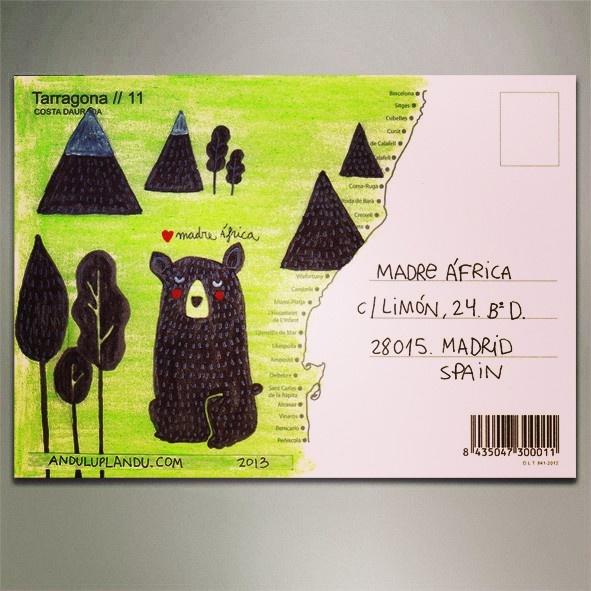 :: ANDULUPLANDU ::: postal ilustrada para Madre África