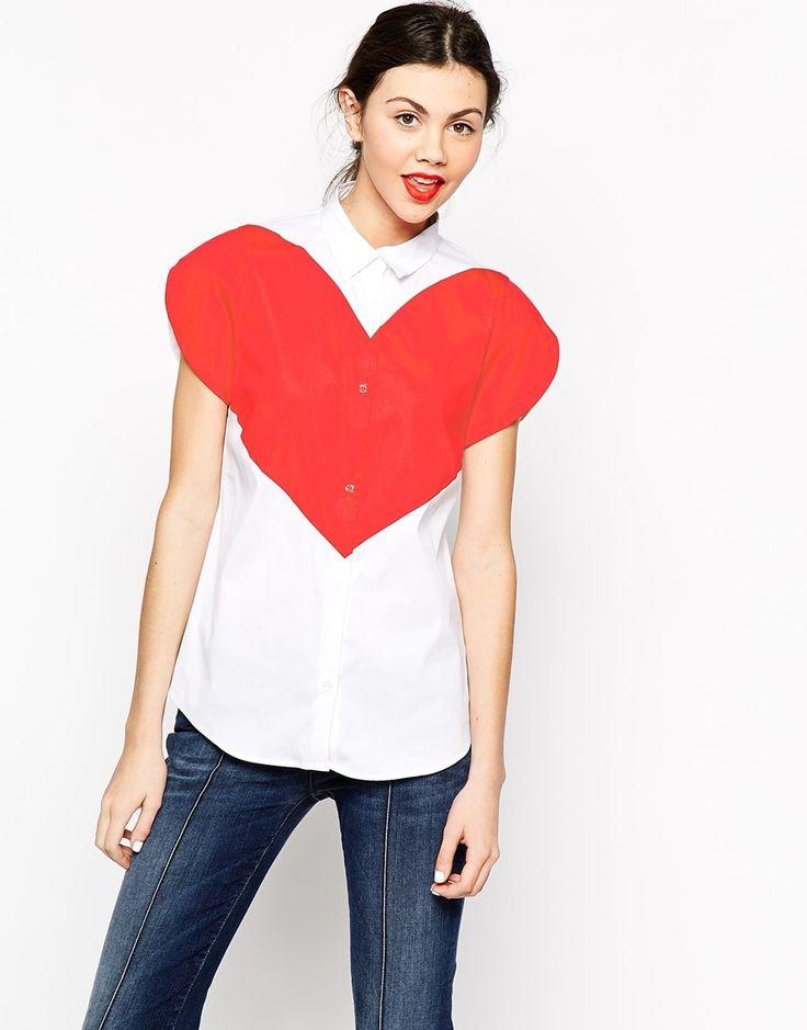 Immagine 1 di Love Moschino - Camicia a maniche corte con cuore grande
