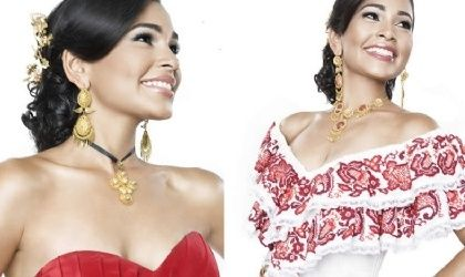 Jewelry and Pollera accents for other occasions.  Vestidos estilizados panameños