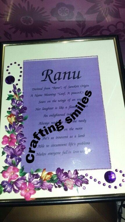 Personalised name frames#craftingsmiles #birthday #giftideas #birthdaygift