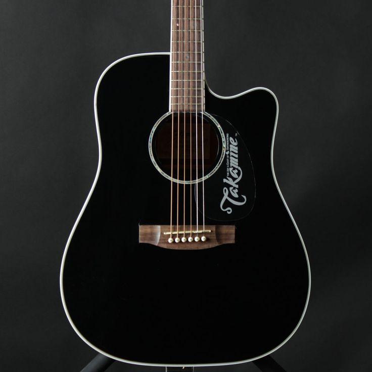 Takamine EG341C Black Dreadnought Acoustic Electric Guitar #Takamine