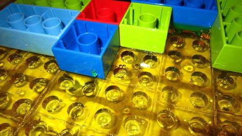 Lego DUPLO Jello Jigglers for a Lego themed party or just for fun!